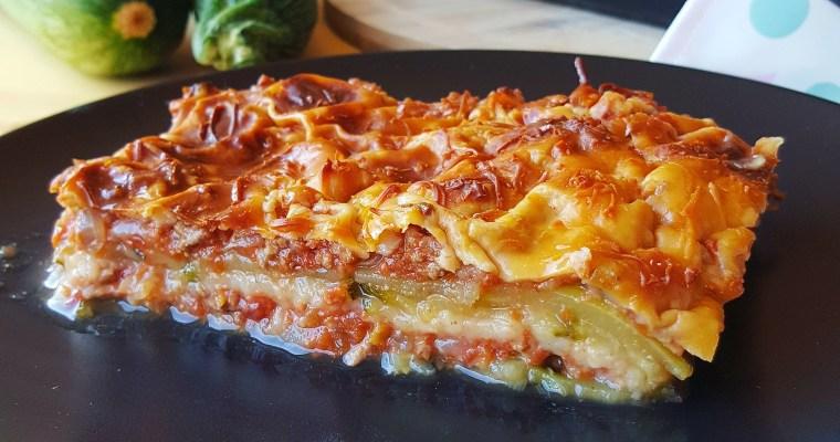 Gratin de courgettes à la bolognaise façon lasagnes