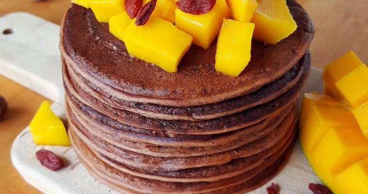 Pancakes vegan banane & choco-noisette