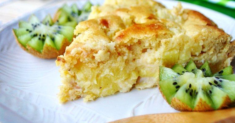 Gâteau à l'ananas, coco et noix de cajou