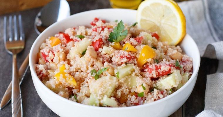 Taboulé de quinoa aux pois chiches