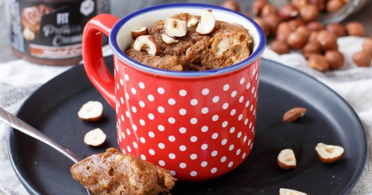 Mug cake à la banane et à la Fit protein creme Nu3