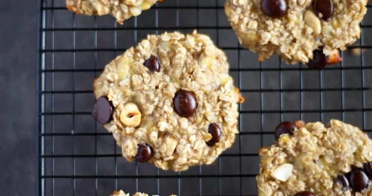 Cookies à la banane et aux flocons d'avoine