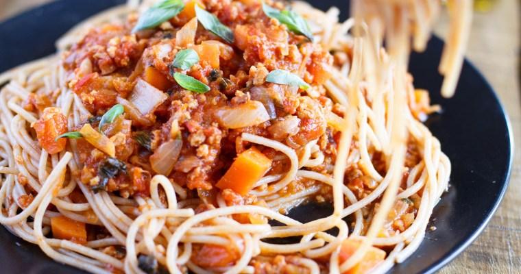 Sauce bolognaise vegan (au soja)