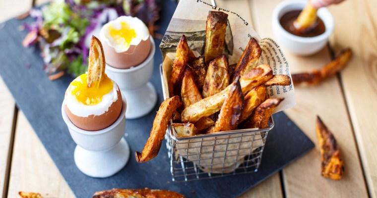 Frites de patate douce (sans friture)