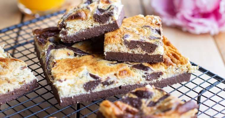 Brownie-cheesecake léger