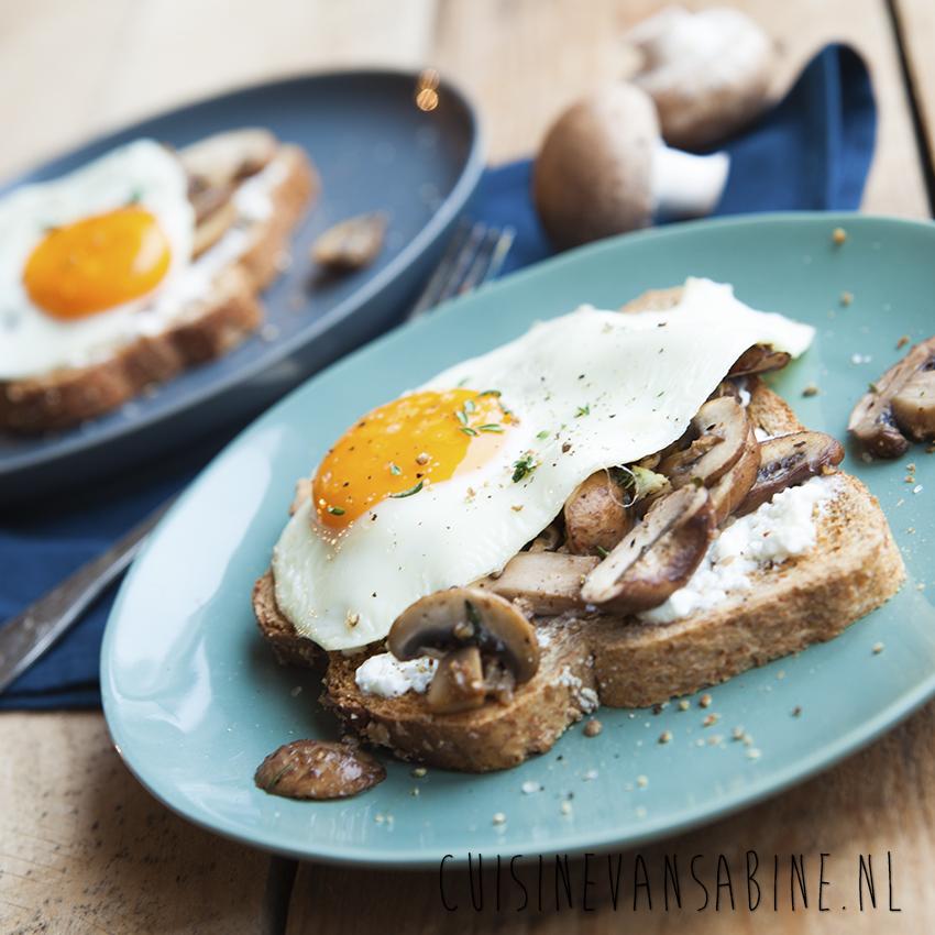 Toast champignons huttenkase 2