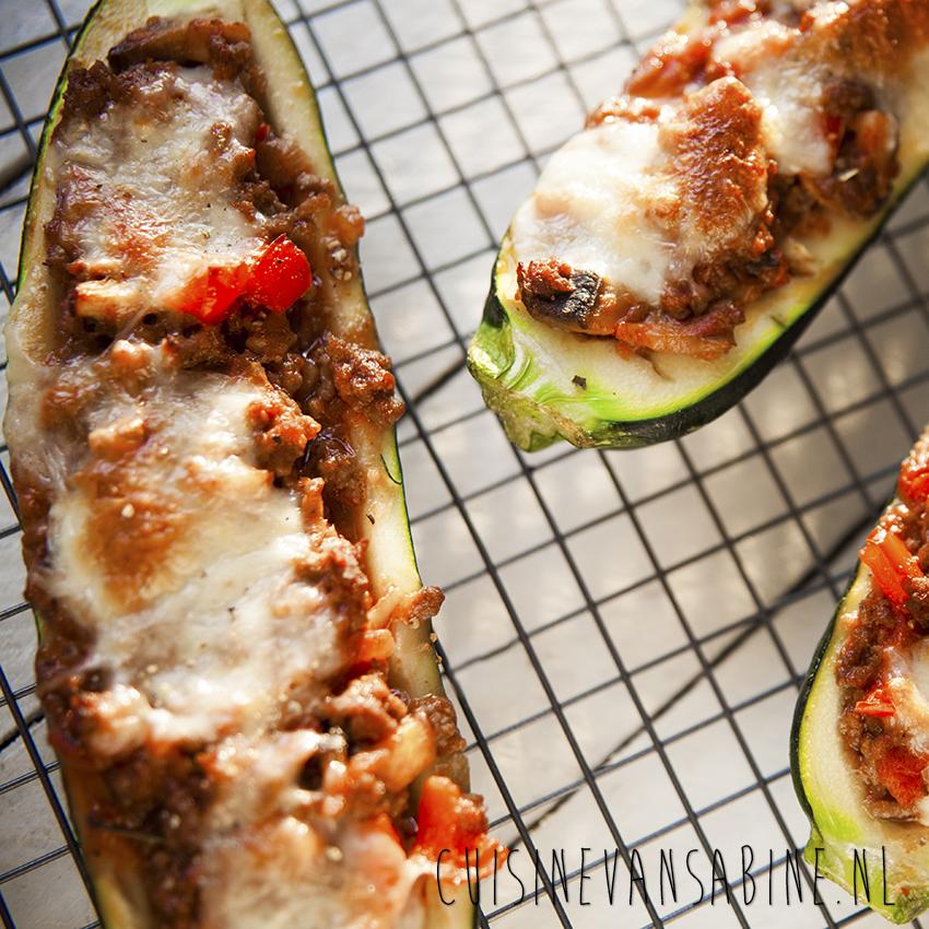 Courgette lasagnebootjes
