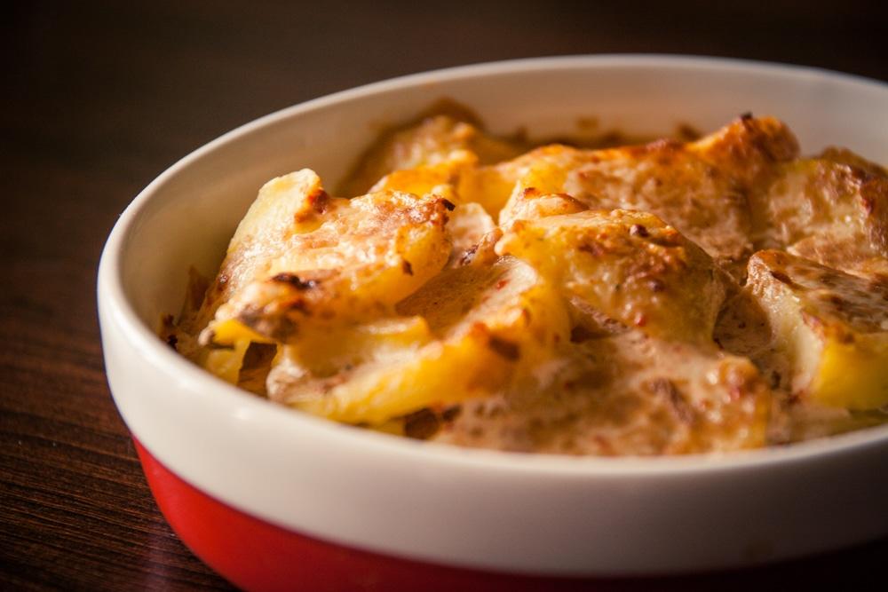 Gratin de pommes de terre au tofu rosso