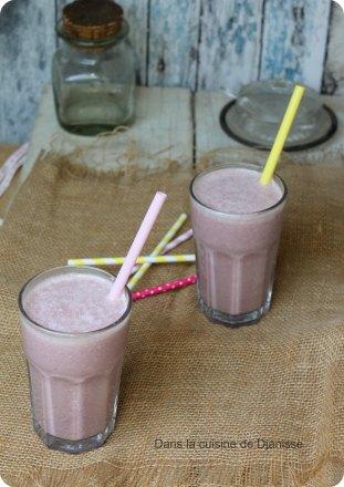 Milksake bananes/framboises