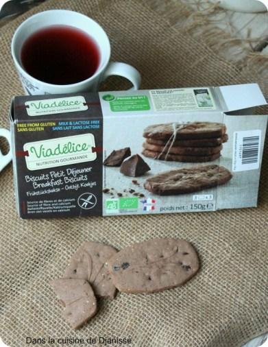 Biscuits sans gluten petit-déjeuner Viadélice