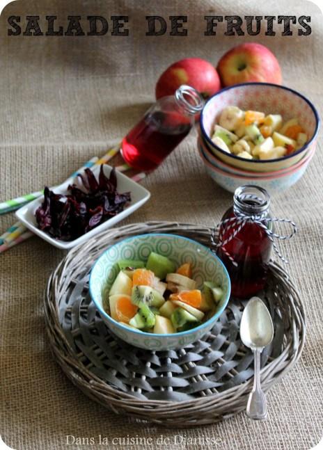 Salades de fruits et hibiscus