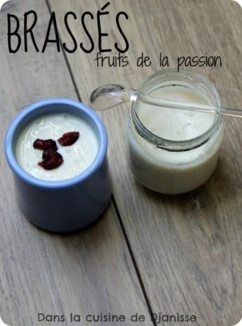 Yaourts de soja aux fruits de la passion
