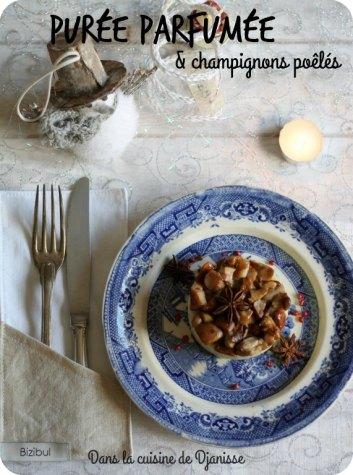 Purée parfumée & poêlée de champignons