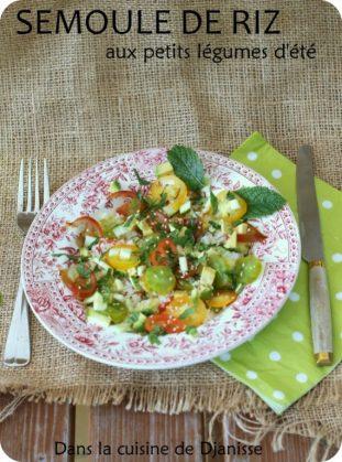Vegan recipe : rice semoule