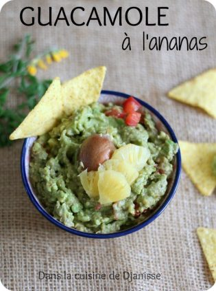 Vegan recipe : pineapple guacamole