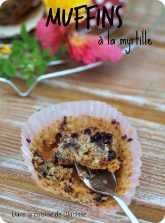 Muffins sans gluten à la myrtille - vegan