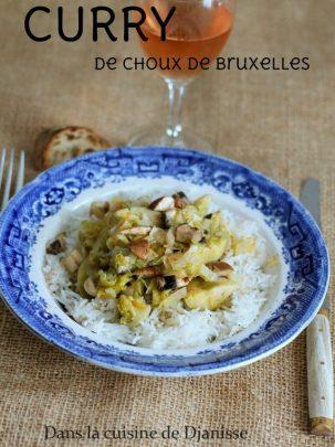 Curry de choux de Bruxelles et champignons de Paris - Vegan