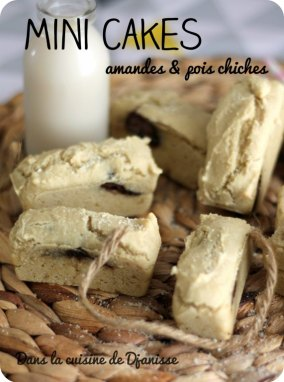 Mini cakes amandes & pois chiches {vegan sans gluten}