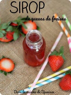 Recette zéro déchet : sirop de queues de fraises