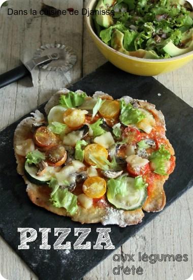 pizza végé aux légumes d'été