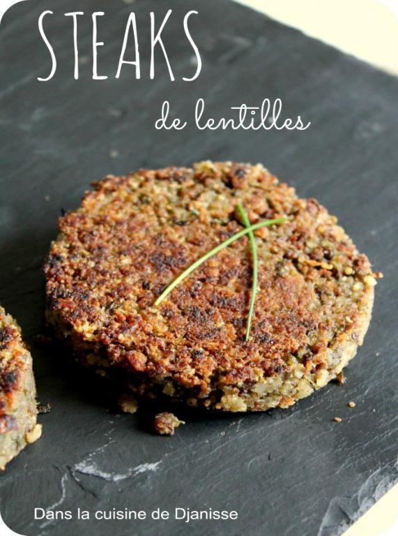 Steaks de lentilles pour burger, sans gluten - #vegan