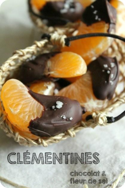 Clémentines au chocolat norie & fleur de sel