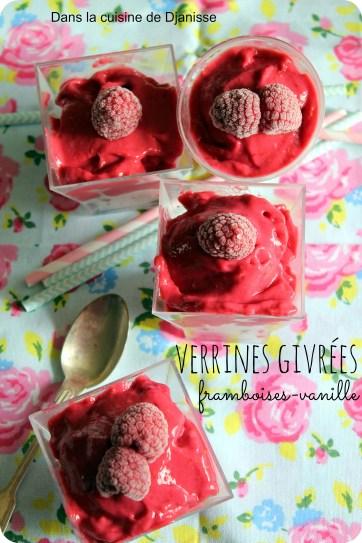 Verrines givrées framboise vanille