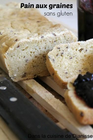 Pain aux graines & huile d'olive sans gluten