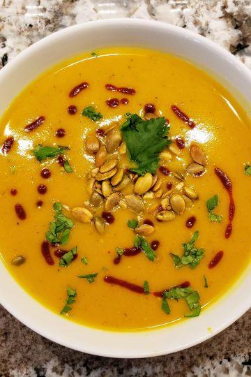 Butternut squash red lentil soup