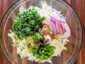 Cilantro lime cabbage slaw