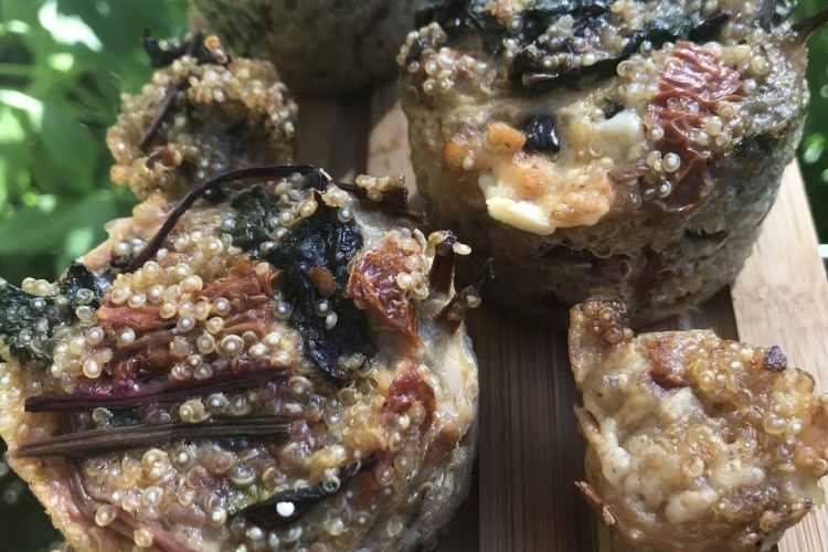 Muffin quinoa feuille de betterave