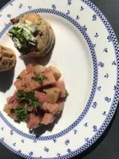 muffins à la betterave et salade de betterave