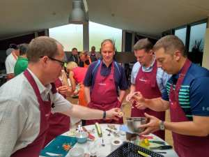 Teambuilding cooking contest Westinghouse Braine