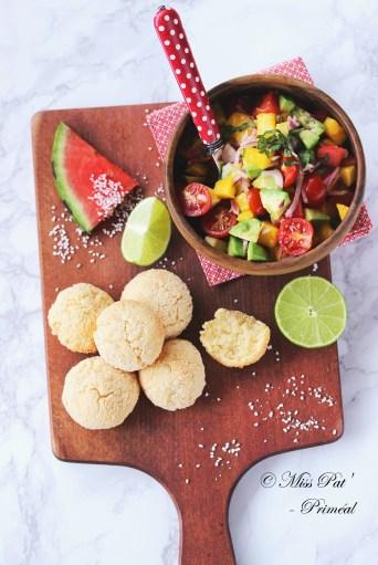Pain au tapioca et salsa misspat primeal