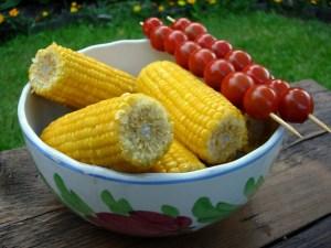 épis de maïs à la vapeur