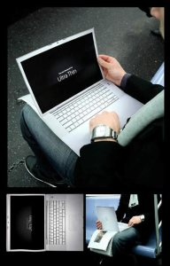 Iklan laptop mac book ultra thin