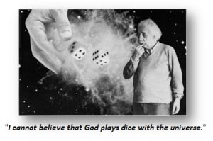God play a dice