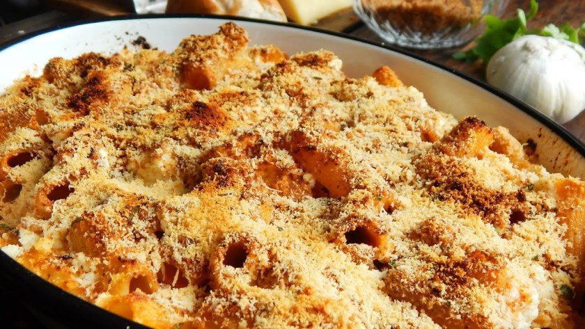 fideos al horno pasta gratinada queso