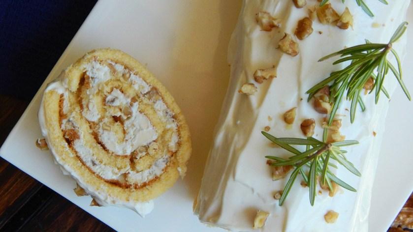 pionono queso azul nuez navidad