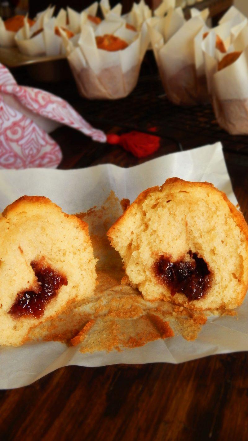 magdalenas caseras rellenas muffin