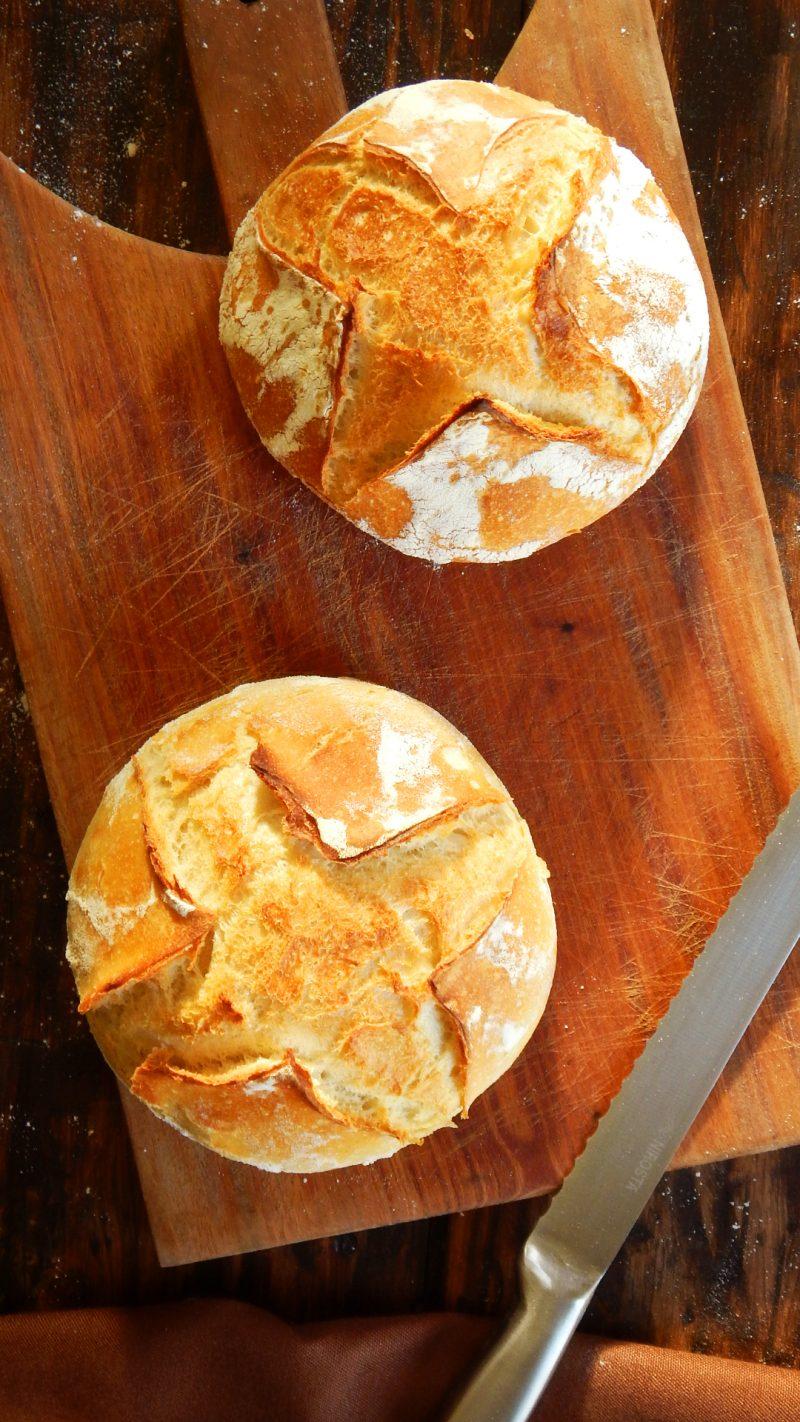 pan casero levadura receta corteza crocante