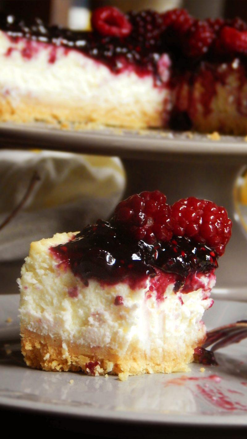 cheesecake clasico new york frutos