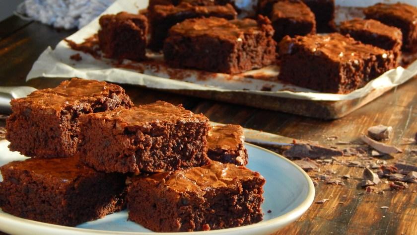brownie de chocolate simple rico