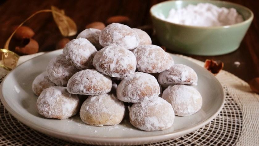 galletas de nuez besos de nuez polvorones sin huevo