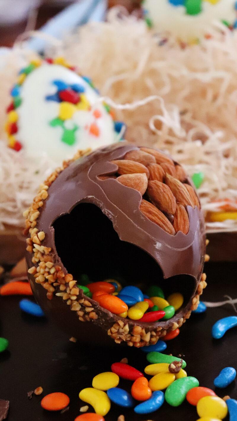 huevo de pascua chocolate confites rellenos