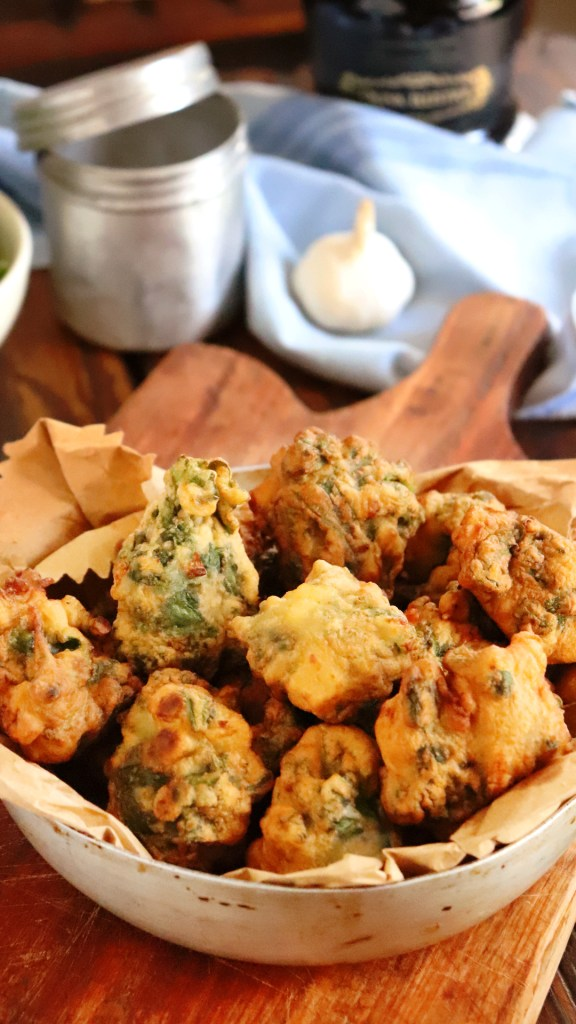 buñuelos de acelga fritos verdura queso
