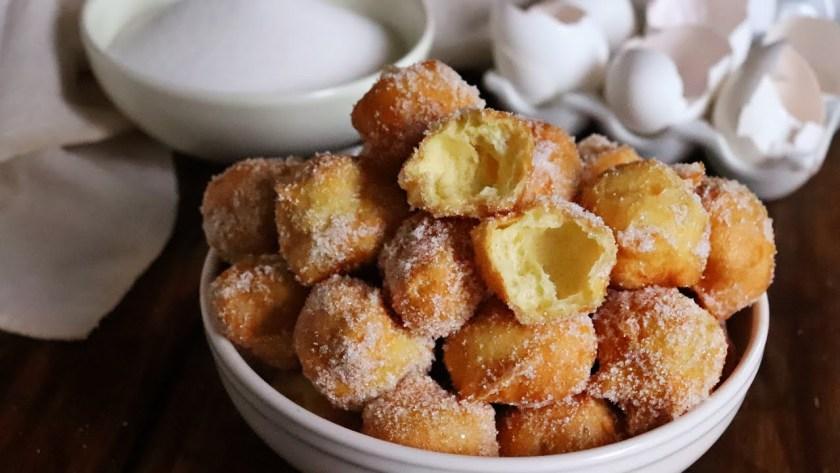 buñuelos de viento dulces fritos