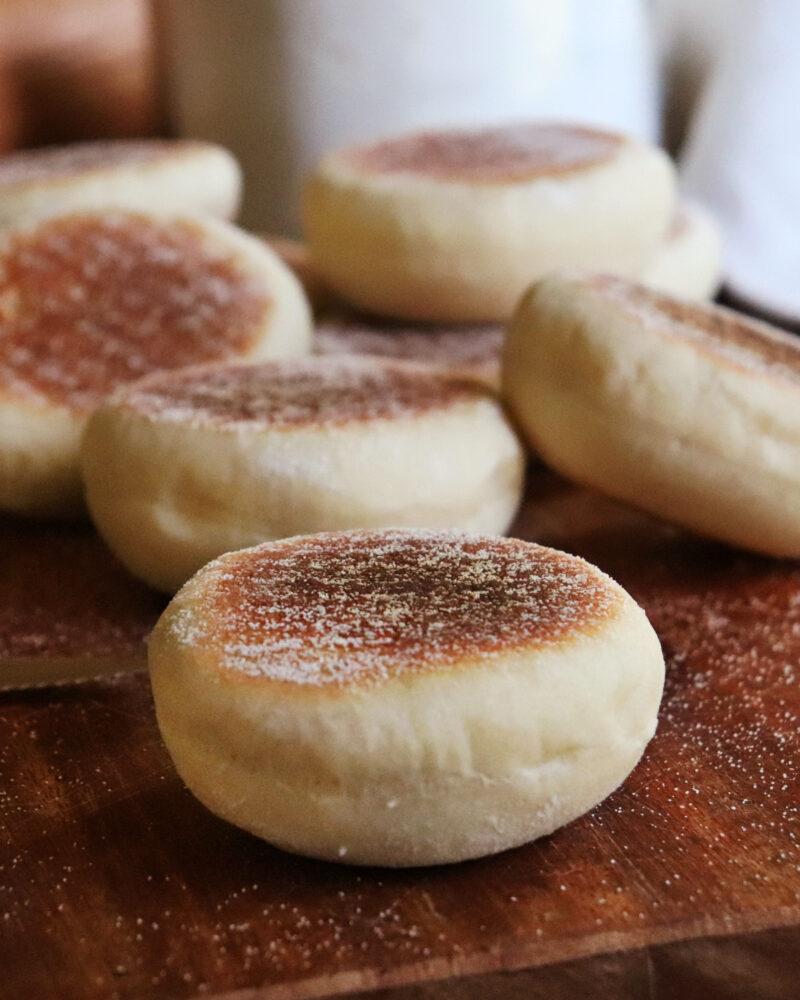 english muffins pan sin horno