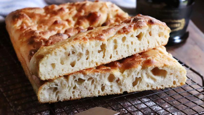 focaccia masa madre italia pan