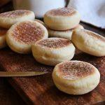 pan en sartén english muffins